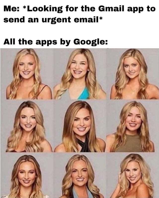 Fucking Google icons - meme