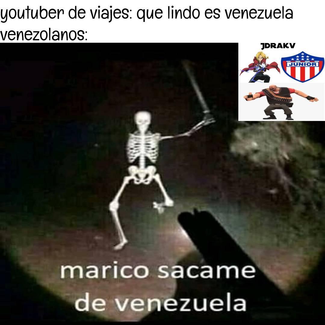 luisito comunica una vez viajo a venezuela y lo robaron :bruh: - meme