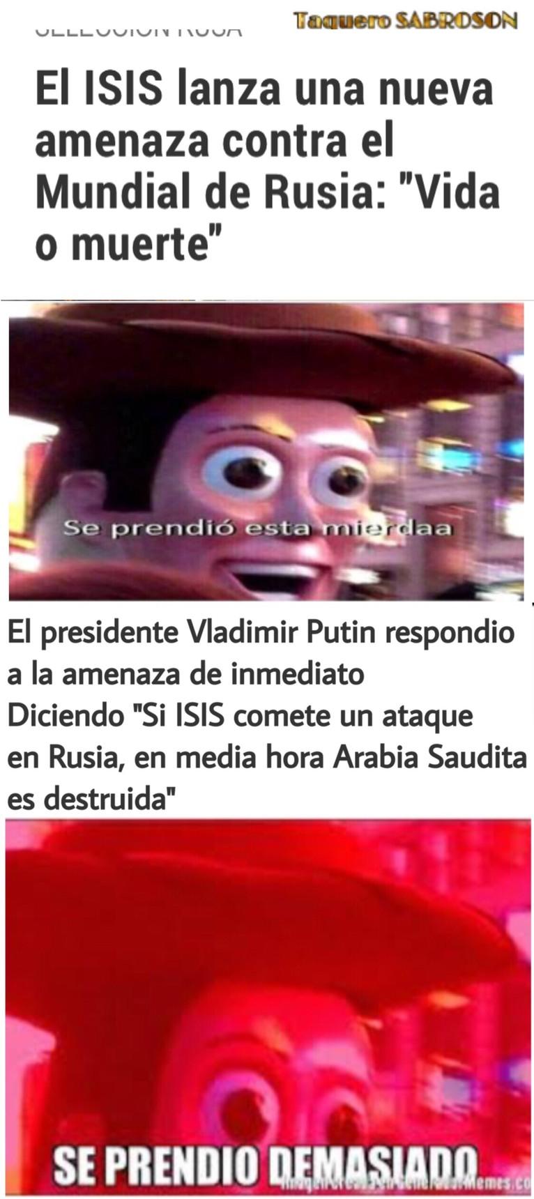 Al final todos los terroristas van a explotar *badabum* *tss* - meme