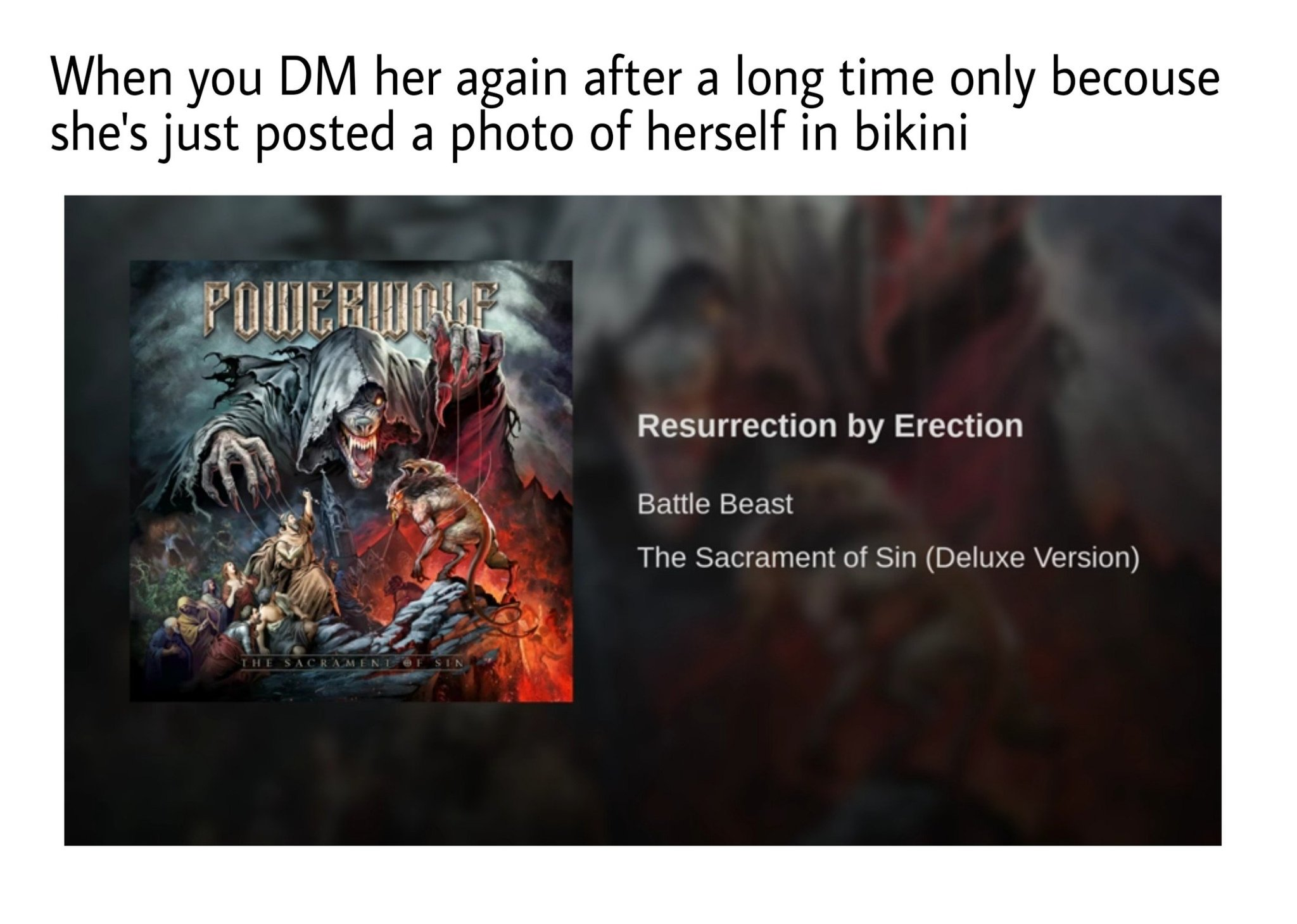 RESURRECTION BY ERECTION - meme