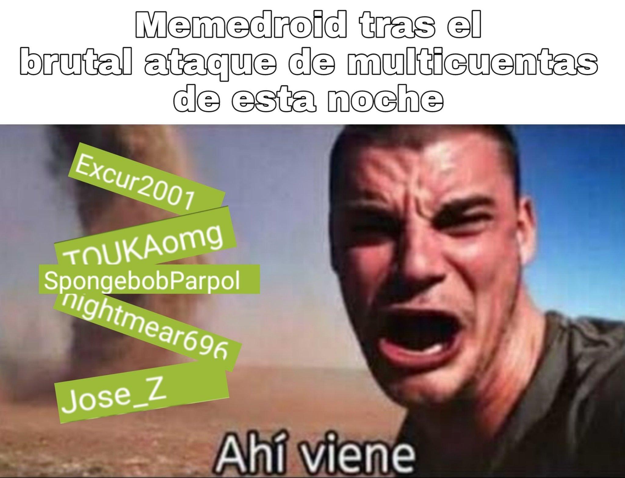 Muerte a los multicuentas - meme