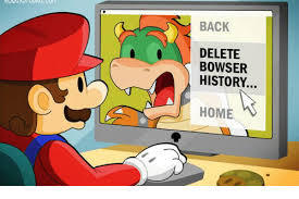 Mario deletes Bowser - meme