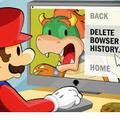 Mario deletes Bowser