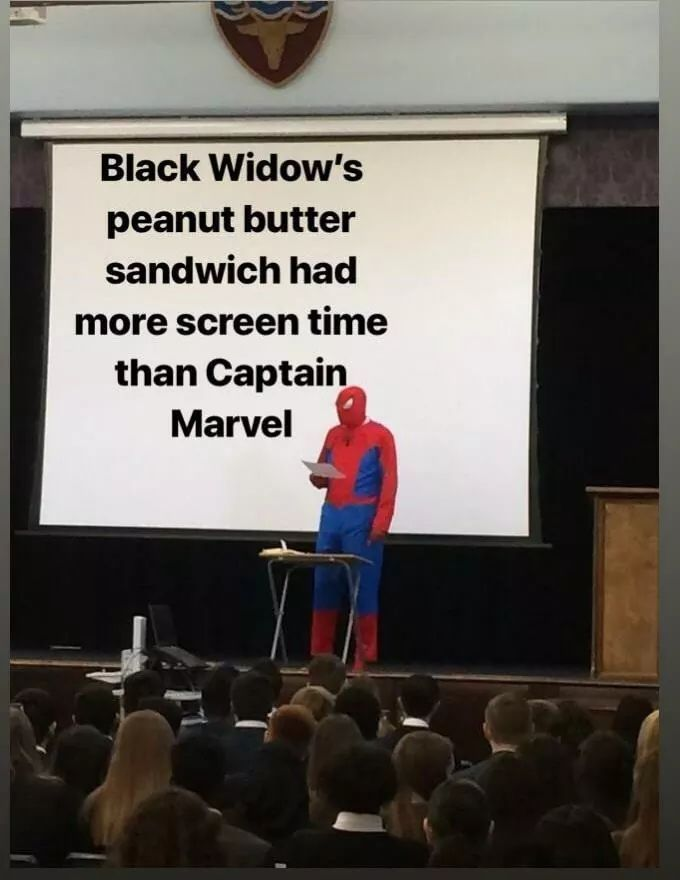 Black widow's pb sandwich had more personality too - meme