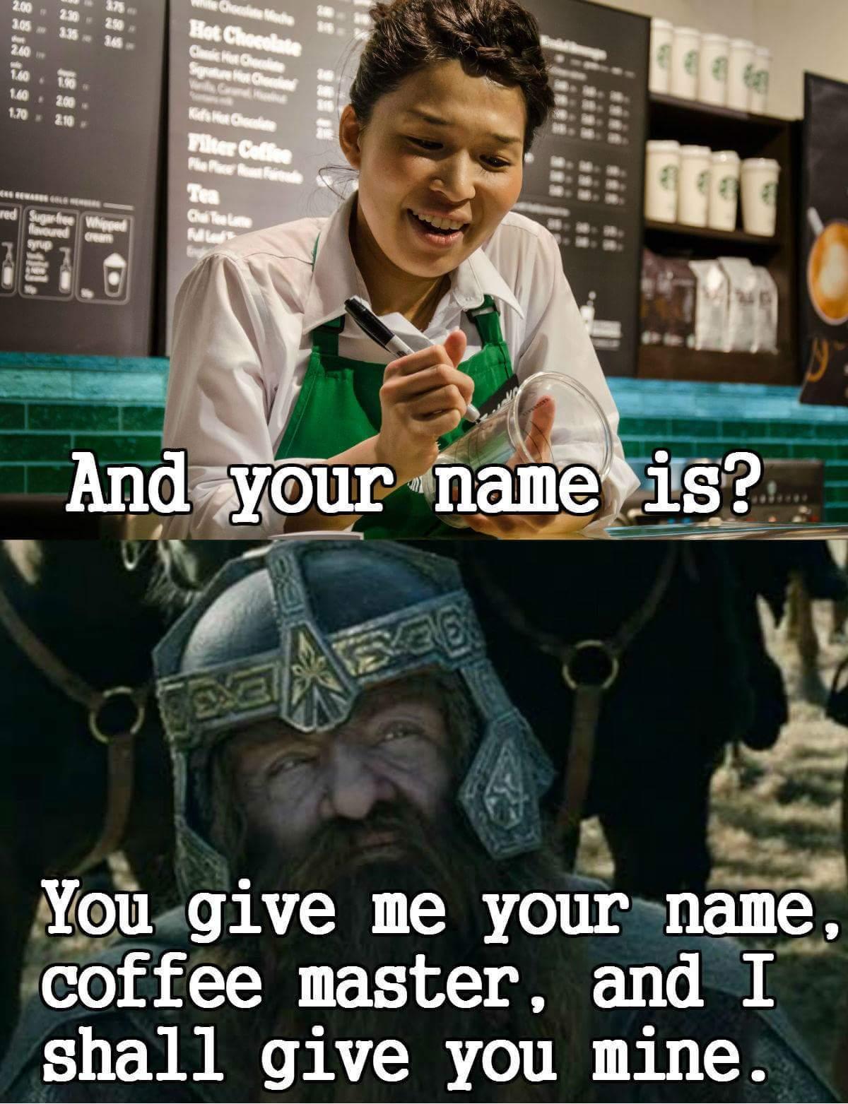 Oh Gimli - meme