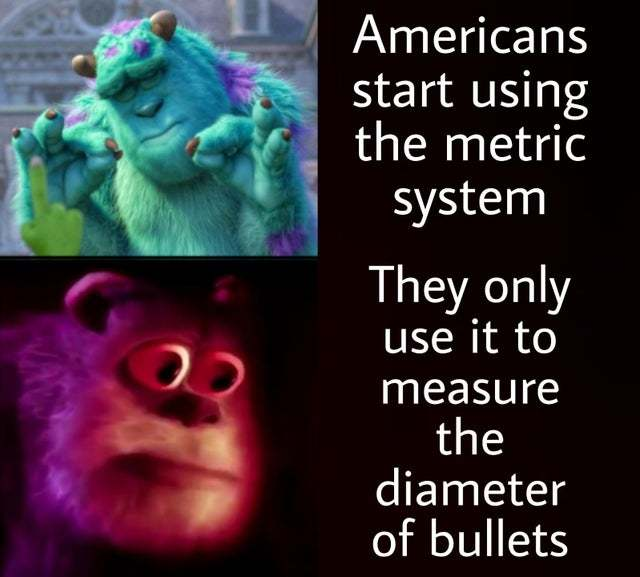 Americans start using the metric system - meme