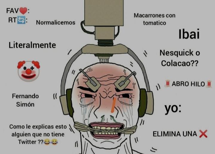 Twitter en España ser como - meme