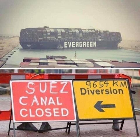 Suez Canal - meme