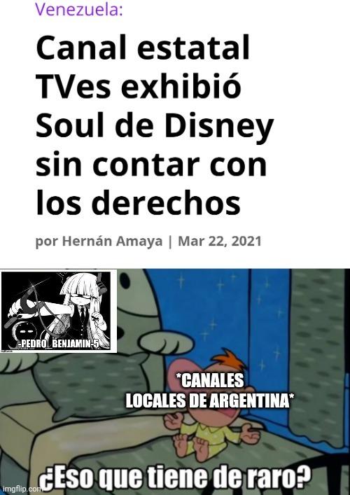 Recuerdo que a finales de 2019 en un canal local de Argentina estaban dando Toy Story 4 - meme