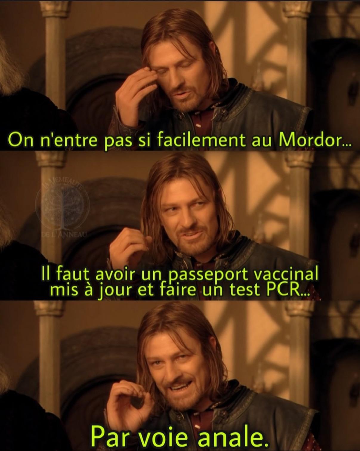 La voie du Mordor est impénétrable - meme