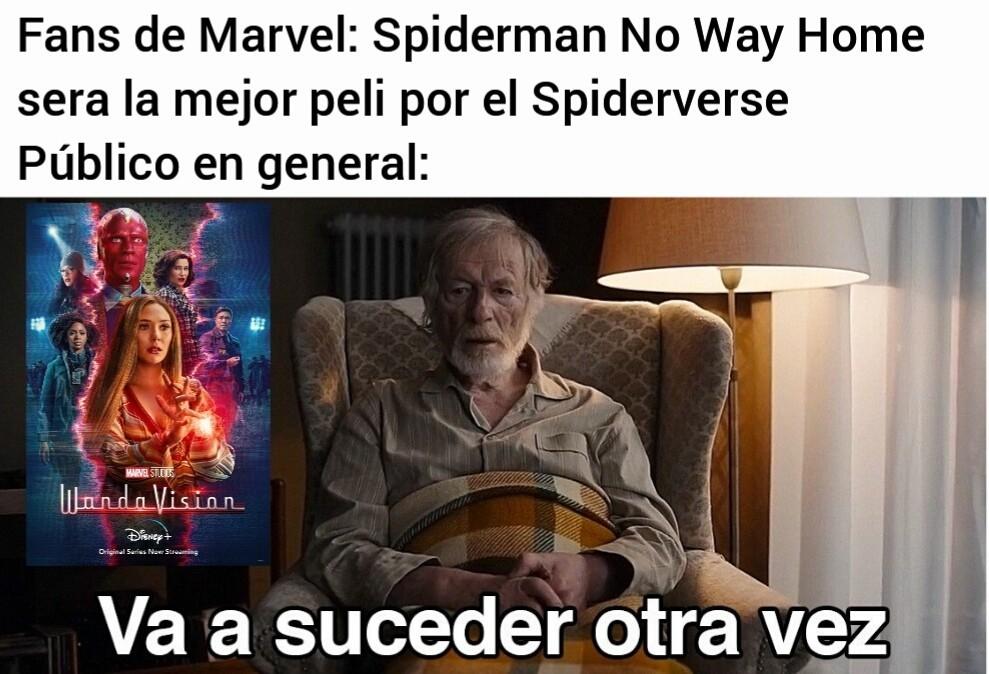 Soy fan de Marvel, pero me preocupa como se estan poniendo los demás con Spiderman 3 - meme