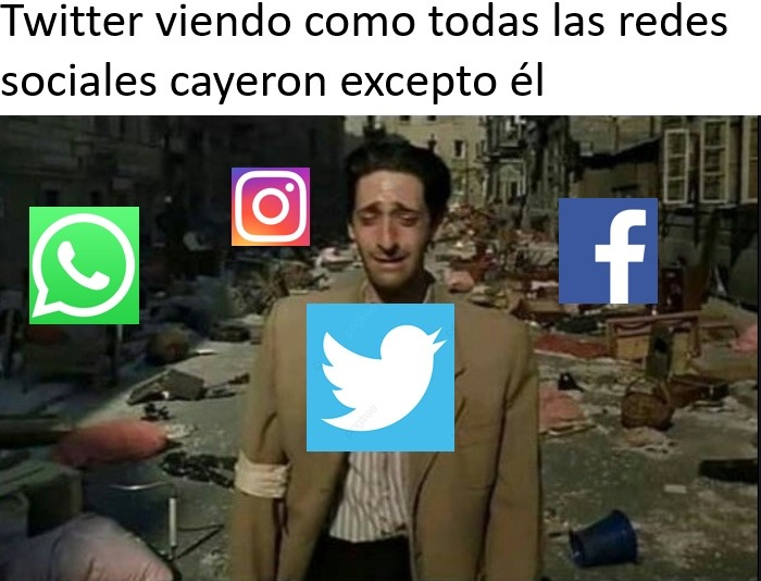 Twitter es el único superviviente - meme