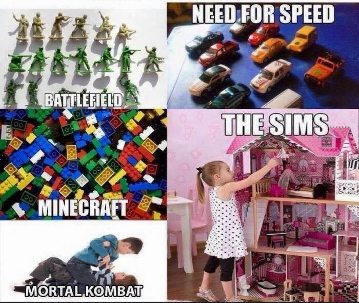 video games when we were kids - meme