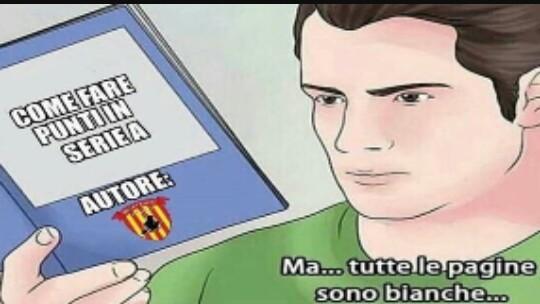 Benevento in cerca di punti - meme
