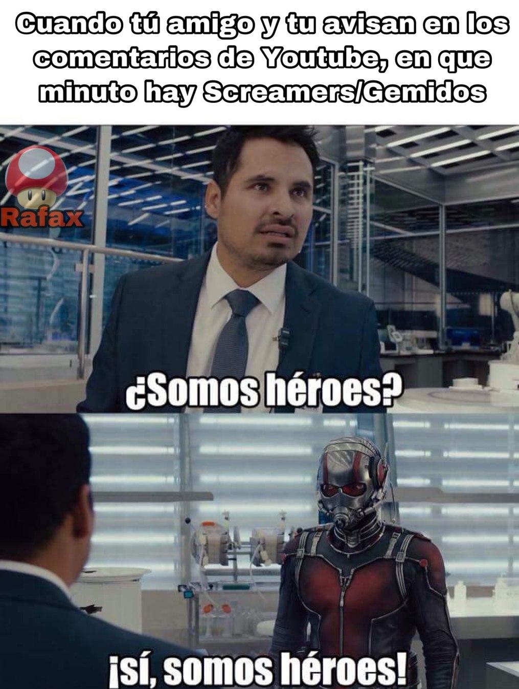 Héroes que nos salvan día a día - meme