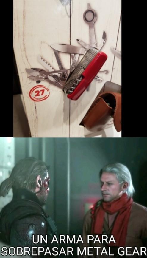 A weapon, to surpass metal gear - meme