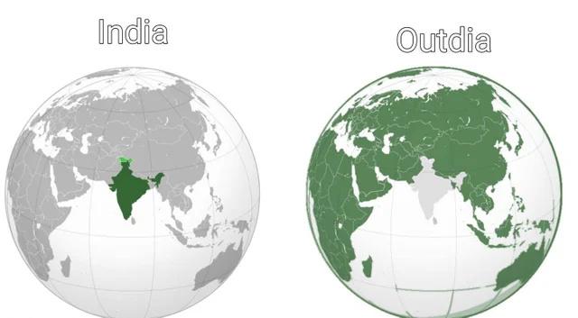 India and Outdia - meme