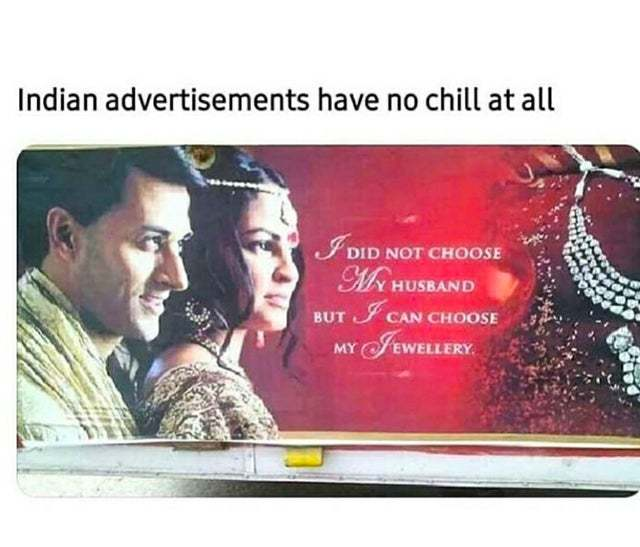 Indian advertisements - meme