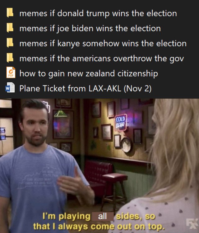 I'm ready for the presidential election - meme