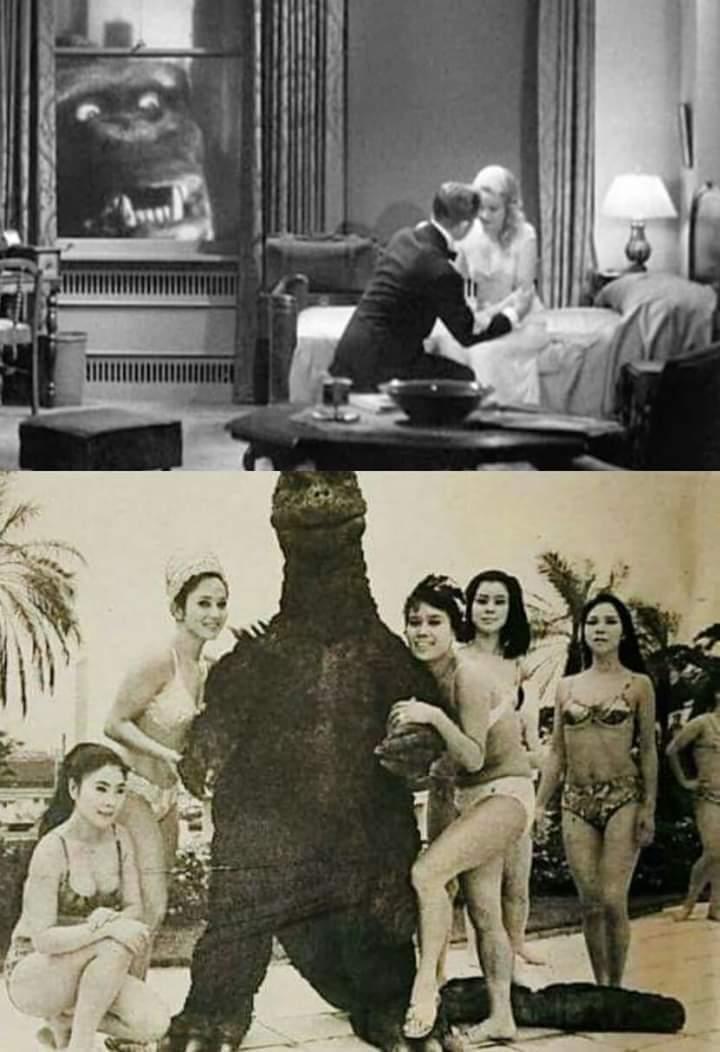 Beta Kong VS Chad Godzilla - meme