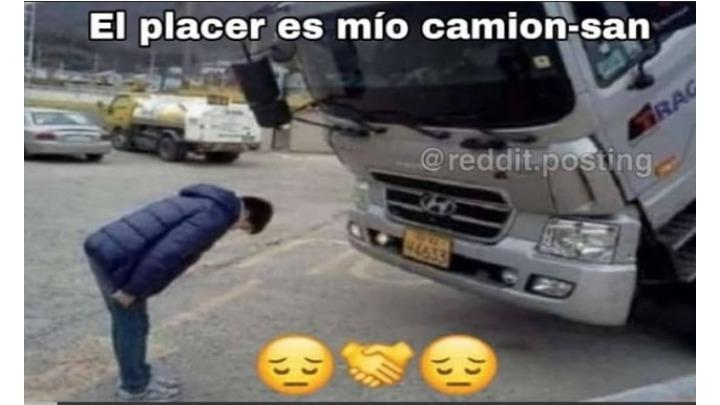 Camión san - meme