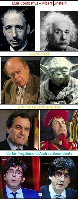 parecidos políticos catalanes - meme