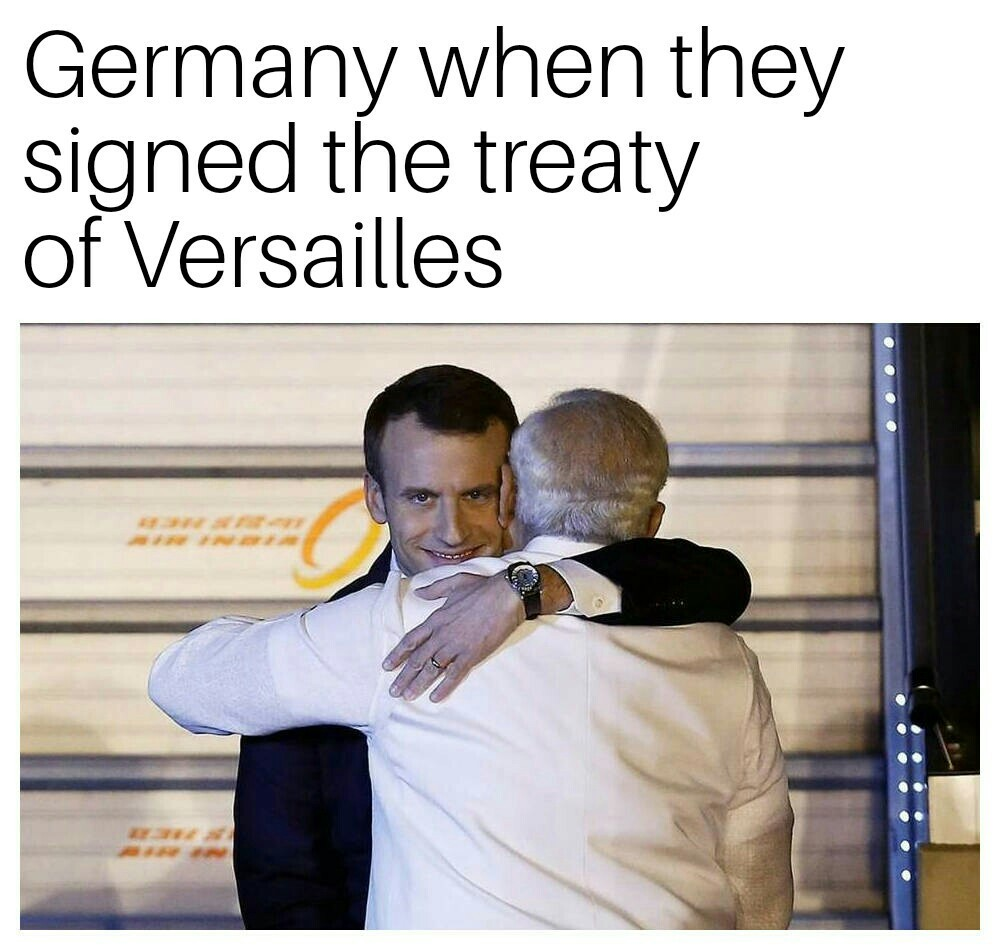 Treaty of Versailles - meme