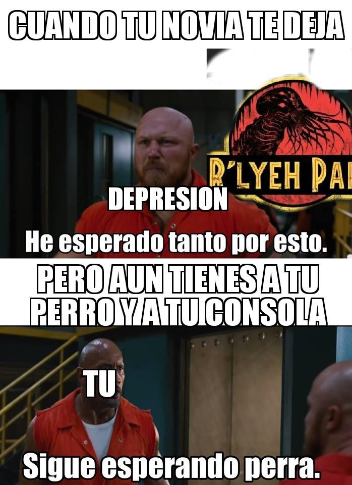 Depresión vs perro - meme