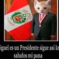 Miguel se volvio Presidente!! Viva Miguel!!!!