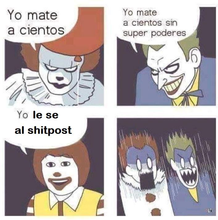 Le sabe al shitpost - meme