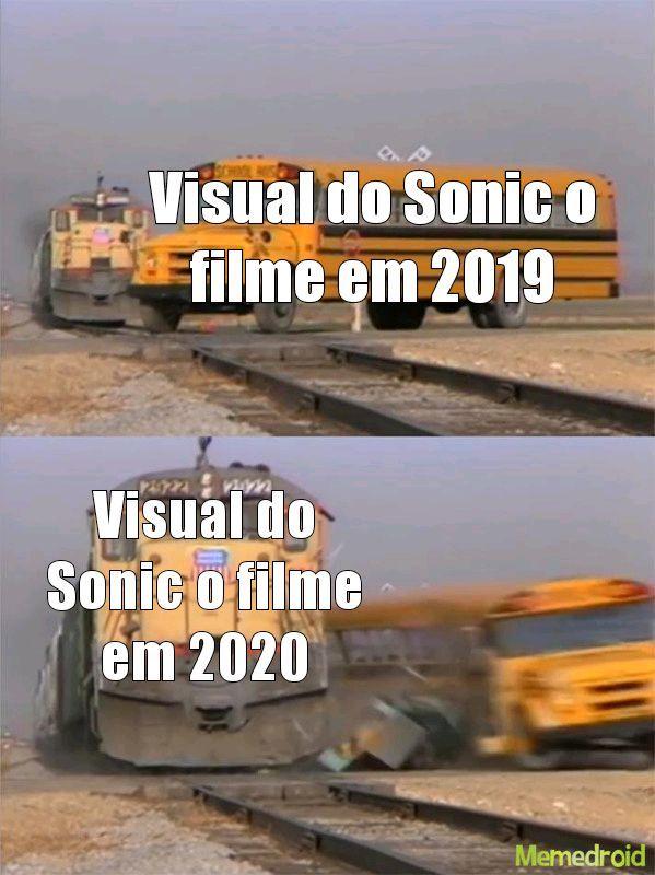 Os visuais do Sonic....... - meme