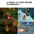 No se que titulo ponerle a este meme de Crash Bandicoot