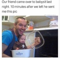 the baby's face