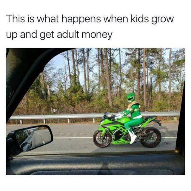 This is what happens when kids grow up and get adult money - meme