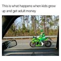 This is what happens when kids grow up and get adult money