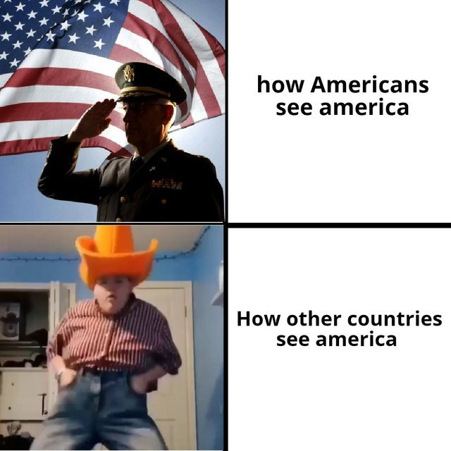 How Americans see America vs how other countries see America - meme