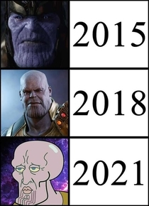 Evolution of thanos - meme