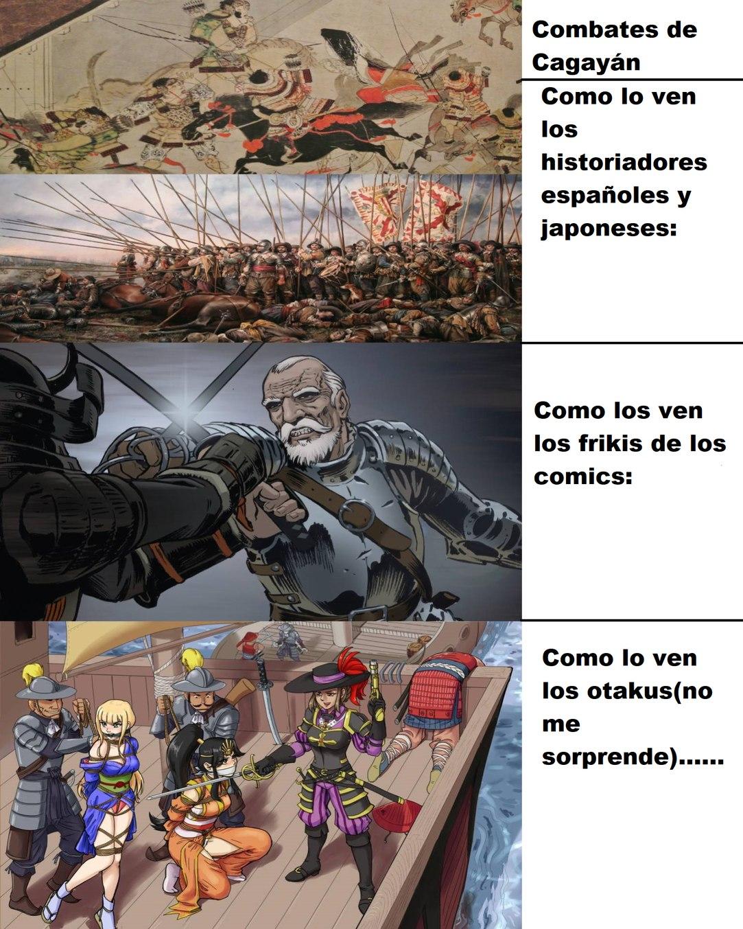 Combates de Cagayán como lo ve cada uno: - meme