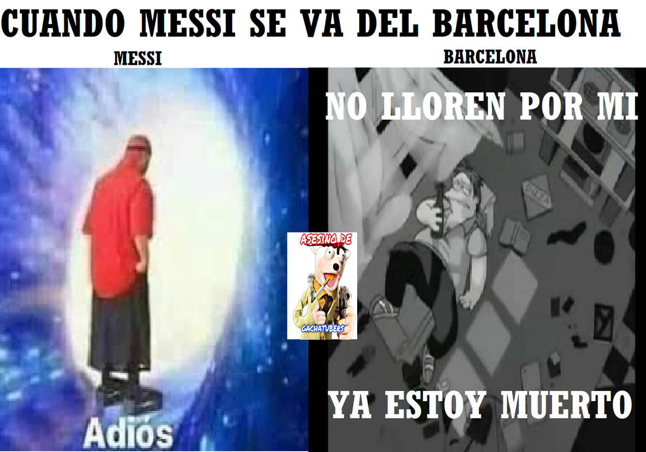 No es joda, messi confirmo que se va del barcelona - meme