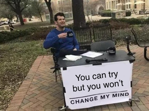 If doesn't make sense it doesn't make sense - meme