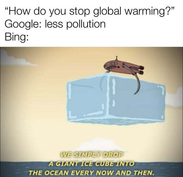 How do you stop global warming? - meme