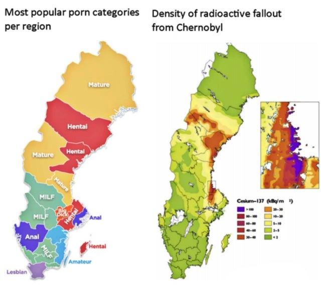 para el que no sepa es el mapa de Suecia - meme