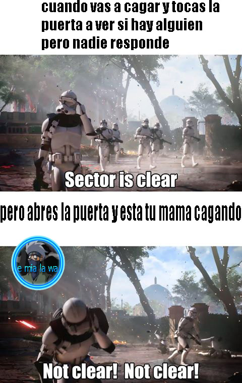 sector is clear - meme
