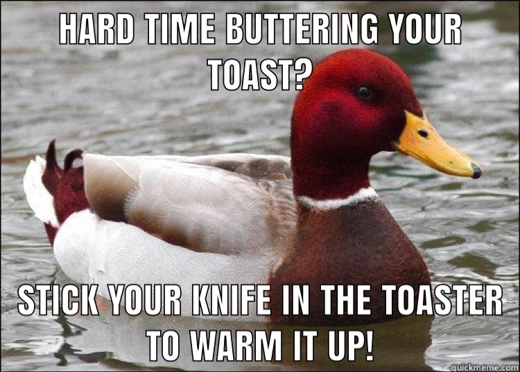 cold butter - meme