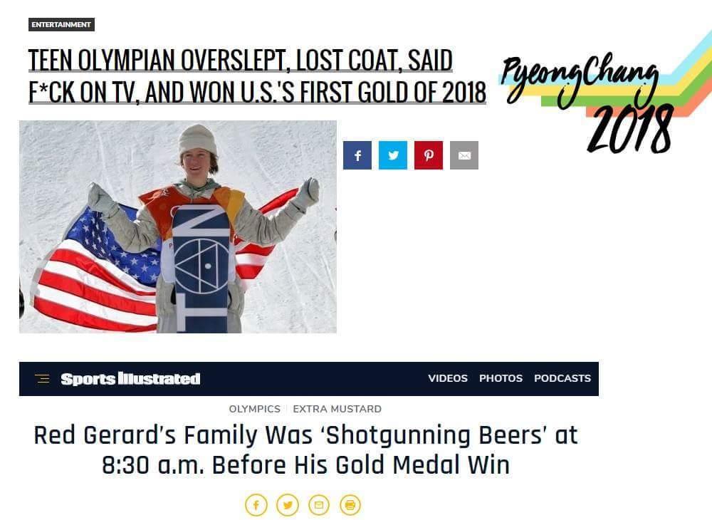 Snowboarding is american - meme