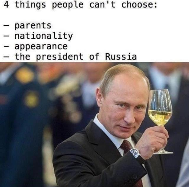 Four things people can't choose - meme
