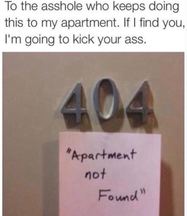404 apartment not found - meme
