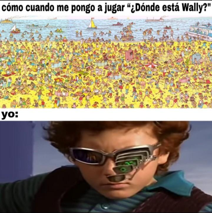 Puntos extras si encuentran a Wally - meme