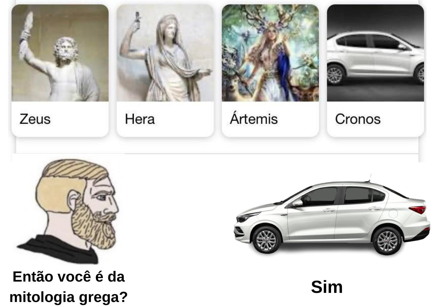 Carro divino - meme