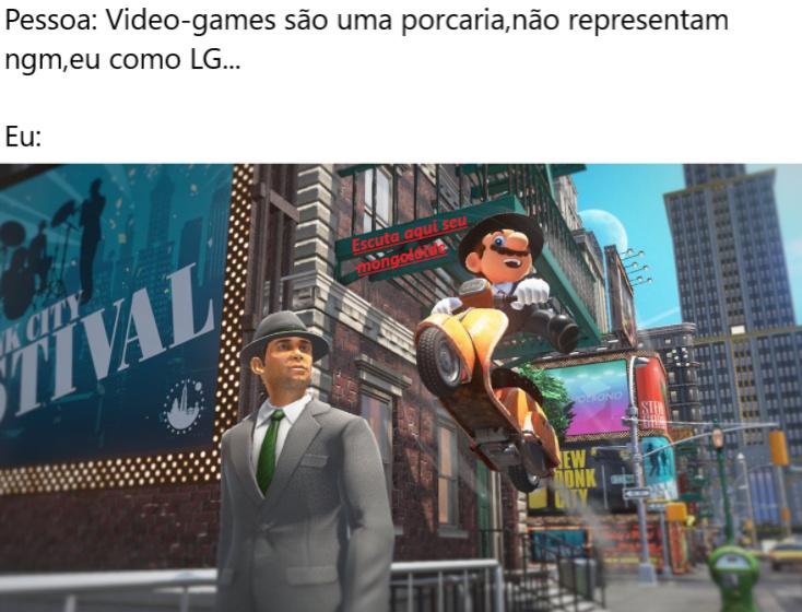 Ngm fala mal de games na frente do Mario >:| - meme